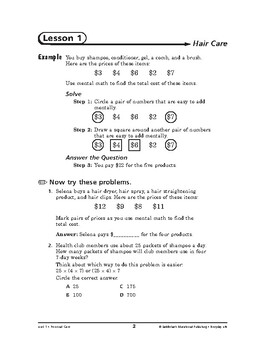 Everyday Life Math: Personal Care-Hair Care