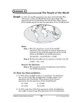 Everyday Life Math: Sustaining the World-The People of the World