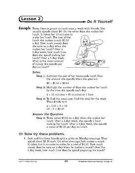 Everyday Life Math: Thrifty Thinking-Do It Yourself