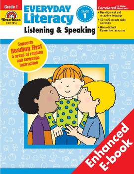 Everyday Literacy Listening and Speaking, Grade 1