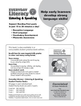 Everyday Literacy Listening and Speaking, Grade 1