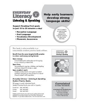 Everyday Literacy Listening and Speaking, Grade K