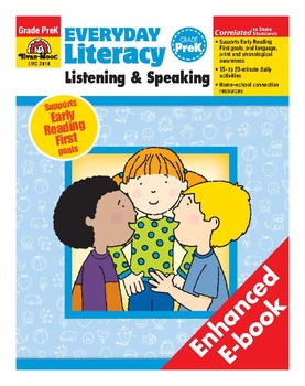 Everyday Literacy Listening and Speaking, Grade Pre-K