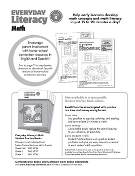 Everyday Literacy: Math, Grade K