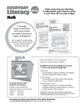 Everyday Literacy: Math, Grade Pre-K