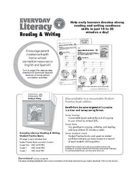Everyday Literacy Reading and Writing, Grade K