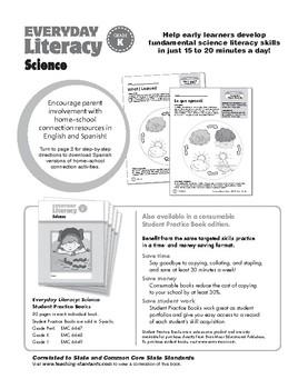 Everyday Literacy Science, Grade K