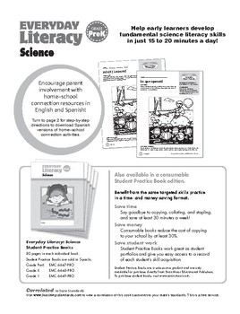 Everyday Literacy Science, Grade Pre-K