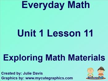 Everyday Math 1st Grade 1.11 Exploring Math Materials