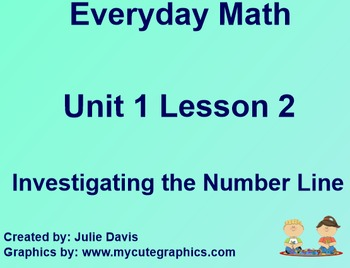 Everyday Math 1st Grade 1.2 Investigating the Number Line