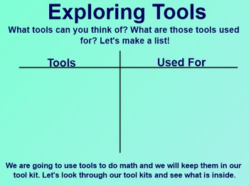 Everyday Math 1st Grade 1.3 Tools for Doing Mathematics