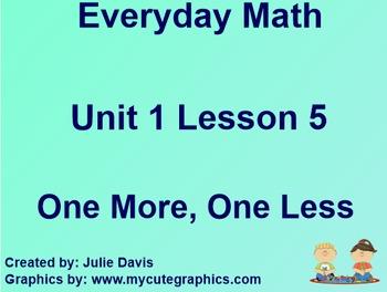 Everyday Math 1st Grade 1.5 One More, One Less