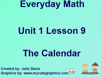 Everyday Math 1st Grade 1.9 The Calendar