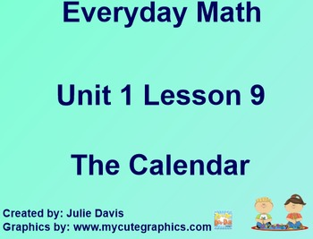 Everyday Math 1st Grade 1.9 The Calendar