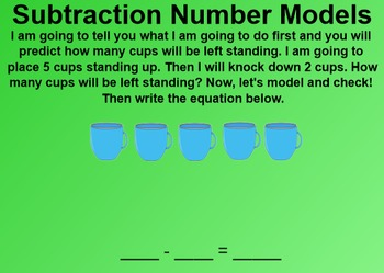 Everyday Math 1st Grade 2.12 Subtraction Number Models