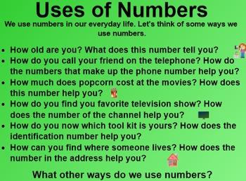 Everyday Math 1st Grade 2.2 Numbers All Around