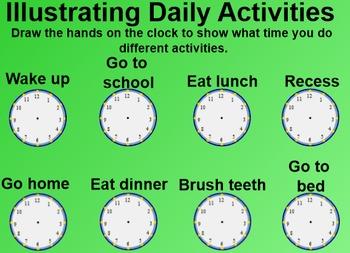 Everyday Math 1st Grade 2.5 Analog Clocks