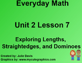 Everyday Math EDM 1st Grade 2.7 Exploring Lengths, Straightedges, and Dominoes