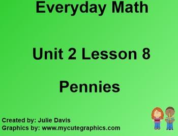 Everyday Math EDM 1st Grade 2.8 Pennies