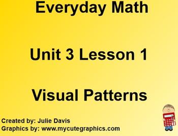 Everyday Math EDM 1st Grade 3.1 Visual Number Patterns