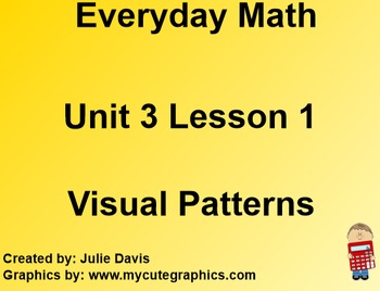 Everyday Math 1st Grade 3.1 Visual Number Patterns