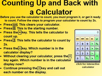 Everyday Math 1st Grade 3.10 Counting with a Calculator