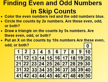 Everyday Math EDM 1st Grade 3.2 Even and Odd Number Patterns