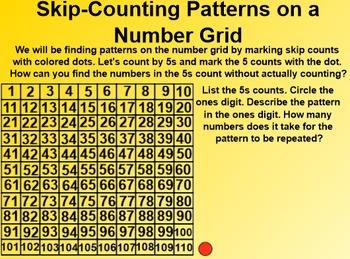 Everyday Math 1st Grade 3.3 Number-Grid Patterns