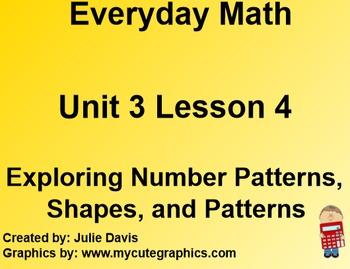 Everyday Math 1st Grade 3.4 Exploring Number Patterns, Sha