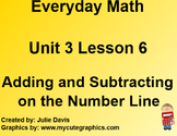 Everyday Math EDM 1st Grade 3.6 Adding and Subtracting on the Number Line