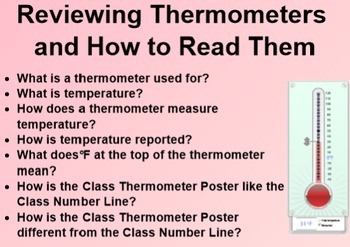Everyday Math 1st Grade 4.1 Math Message and Reading a Thermometer