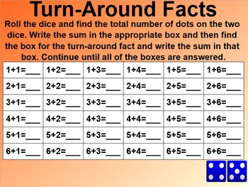 Everyday Math 1st Grade 5.10 Turn Around Facts