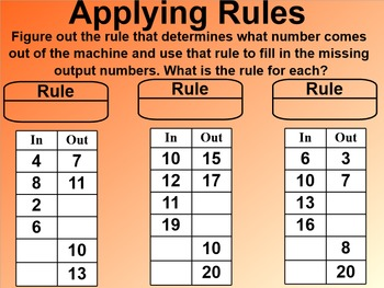 Everyday Math 1st Grade 5.13 Applying Rules