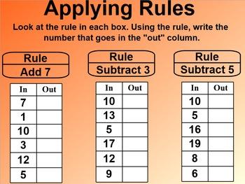 Everyday Math 1st Grade 5.13 Applying Rules