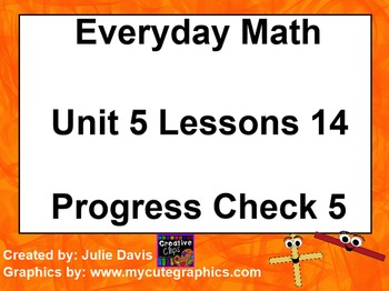 Everyday Math 1st Grade 5.14 Progress Check 5