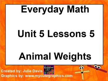 Everyday Math 1st Grade 5.5 Animal Weights