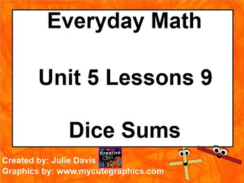 Everyday Math 1st Grade 5.9 Dice Sums