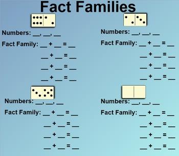 Everyday Math 1st Grade 6.3 Fact Families