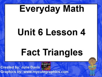 Everyday Math 1st Grade 6.4 Fact Trianges