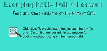 Everyday Math 1st Grade- Lesson 9.1 (Smartboard Lesson)