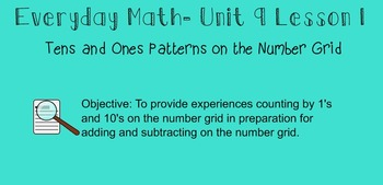 Everyday Math 1st Grade- Lesson 9.1 (Smartboard Lesson)