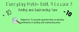 Everyday Math 1st Grade- Lesson 9.2 (Smartboard Lesson)