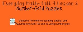 Everyday Math 1st Grade- Lesson 9.3 (Smartboard Lesson)