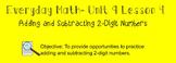 Everyday Math 1st Grade- Lesson 9.4 (Smartboard Lesson)