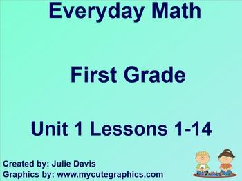 Everyday Math 1st Grade Unit 1 Bundle