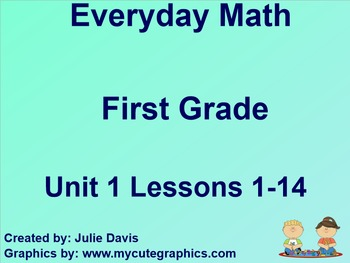 Everyday Math 1st Grade Unit 1 Bundle