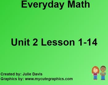 Everyday Math 1st Grade Unit 2 Bundle