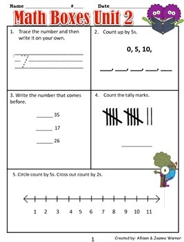 1st Grade Unit 2 Everyday Math ~ Everyday Use of Numbers