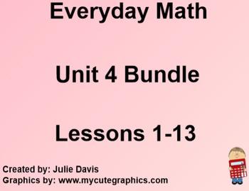 Everyday Math 1st Grade Unit 4 Bundle