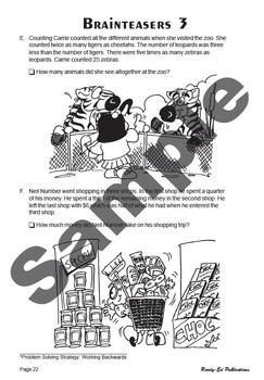 Everyday Math 2: 8 - Problem Solving - Working Backwards